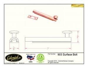 thumbnail of 903 Surface bolt
