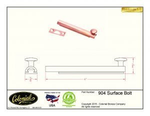 thumbnail of 904 surface bolt