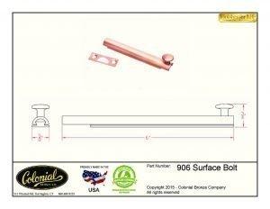 thumbnail of 906 surface bolt