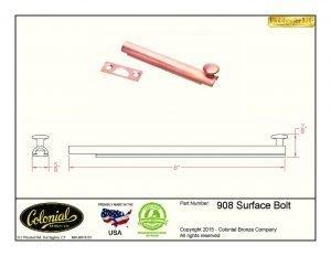 thumbnail of 908 surface bolt