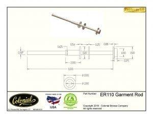 thumbnail of ER110 Garment Rod