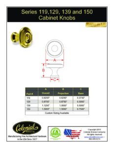 thumbnail of Colonial Bronze PROD 119_129, _139_150 Series Pull Specifications
