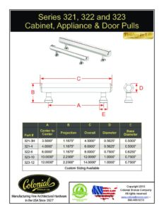 thumbnail of Colonial Bronze PROD 321_322_323 Series Pull Specifications