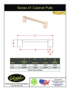 thumbnail of Colonial Bronze PROD 41 Pull Specifications