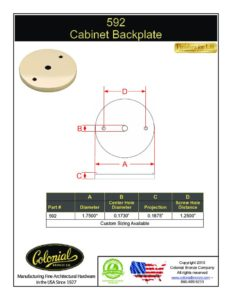 thumbnail of Colonial Bronze PROD 592_Backplate Specifications