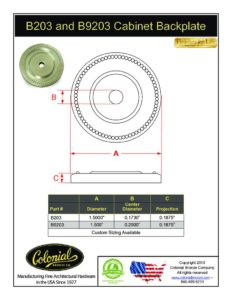 thumbnail of Colonial Bronze PROD B203_B9203 Backplate Specifications