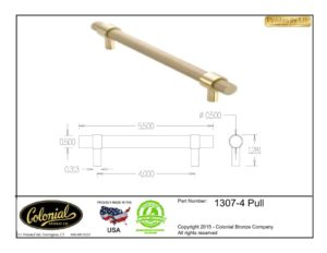 thumbnail of Colonial Bronze Prod 1307-4 Pull Specifications