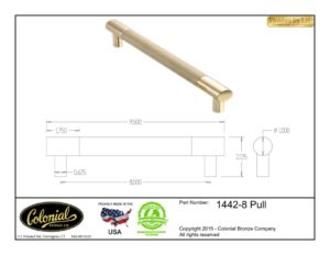 thumbnail of Colonial Bronze Prod 1442-8 Pull Specifications