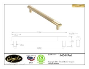 thumbnail of Colonial Bronze Prod 1446-8 Pull Specifications
