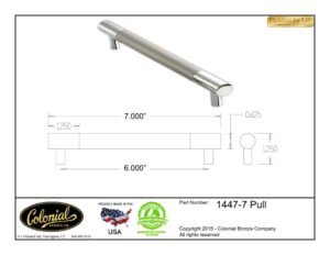 thumbnail of Colonial Bronze Prod 1447-6 Pull Specifications