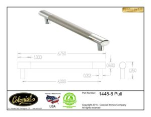 thumbnail of Colonial Bronze Prod 1448-6 Pull Specifications
