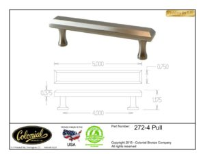 thumbnail of Colonial Bronze Prod 272-4 pull Specifications