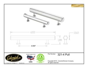 thumbnail of Colonial Bronze Prod 321-4 Pull Specifications
