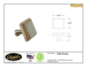 thumbnail of Colonial Bronze Prod 526 Knob Specifications