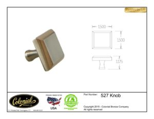 thumbnail of Colonial Bronze Prod 527 Knob Specifications