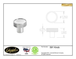 thumbnail of Colonial Bronze Prod 591 Knob Specifications