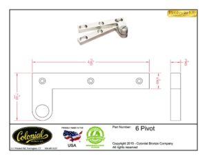thumbnail of Colonial Bronze Prod 6 pivot Specifications