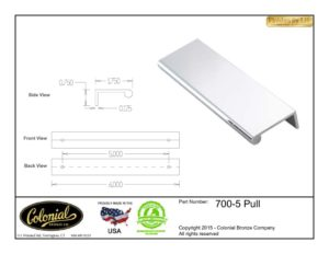 thumbnail of Colonial Bronze Prod 700-5 Pull Specifications