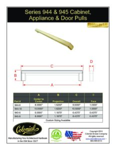 thumbnail of Colonial Bronze Prod 944_945 Pull Specifications