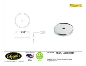 thumbnail of Colonial Bronze Prod 9620 Backplate Specifications