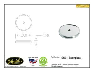 thumbnail of Colonial Bronze Prod 9621 Backplate Specifications