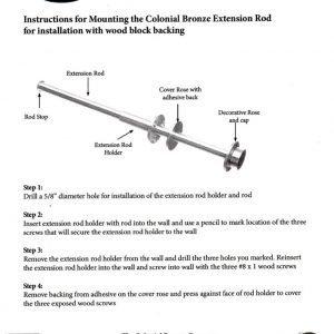 ER110 Garment Rod