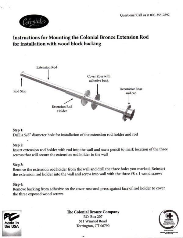 thumbnail of Garment Rod Install