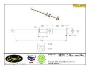 thumbnail of SER110 Garment Rod