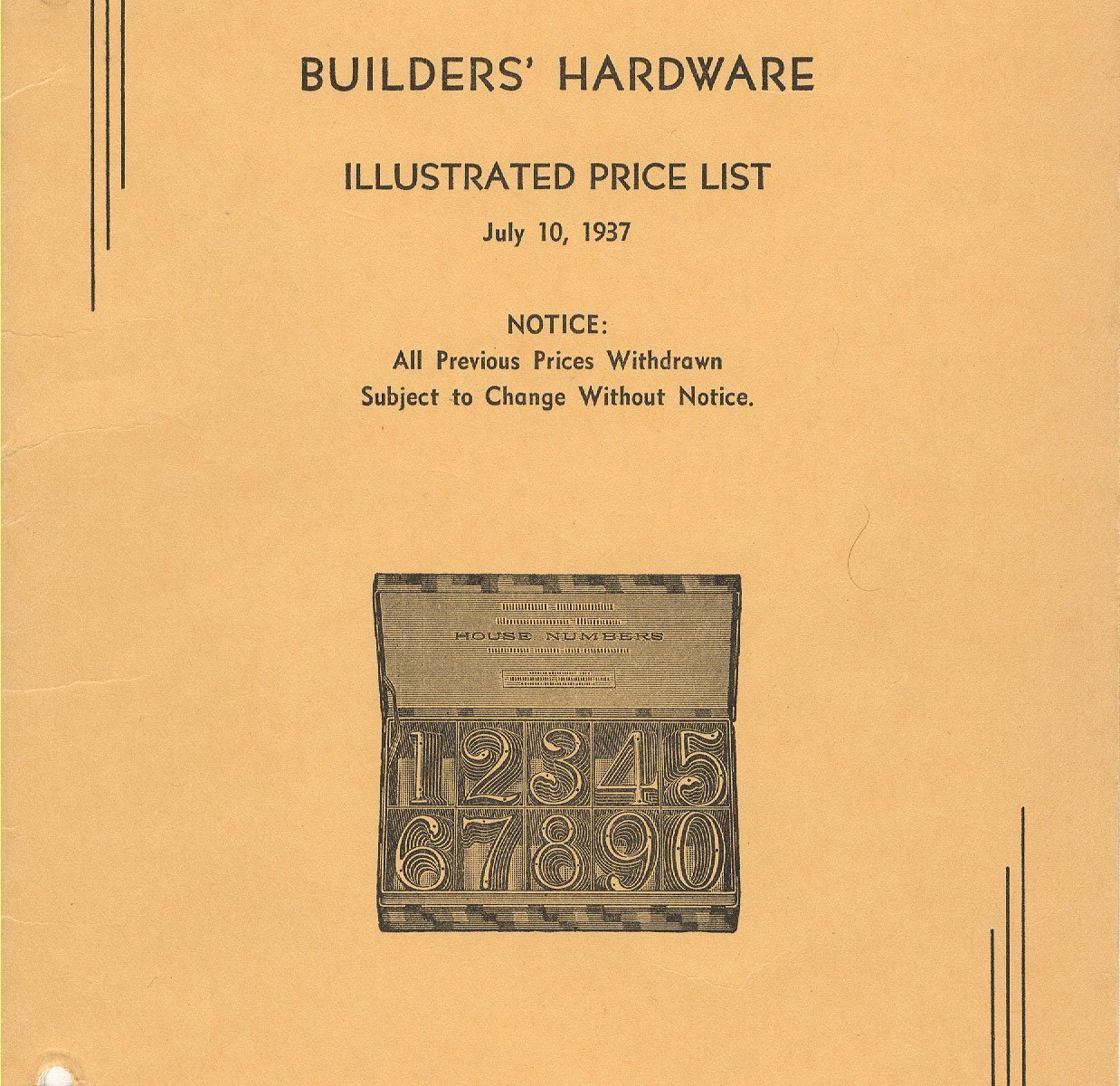 The First Catalog