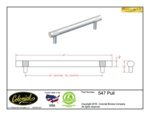 thumbnail of Colonial Bronze Prod 547 Pull Specifications