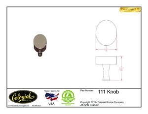 thumbnail of Colonial Bronze Prod 111 Knob Specifications