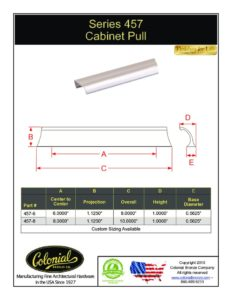 thumbnail of Colonial Bronze PROD 457 Series Pull Specifications