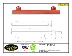 thumbnail of Colonial Bronze Prod 612 Pull Specifications