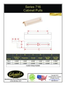thumbnail of Colonial Bronze PROD 716 Series Pull Specifications