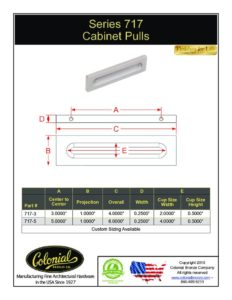 thumbnail of Colonial Bronze PROD 717 Series Pull Specifications