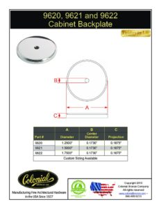 thumbnail of Colonial Bronze PROD 9620_9621_9622 Backplate Specifications