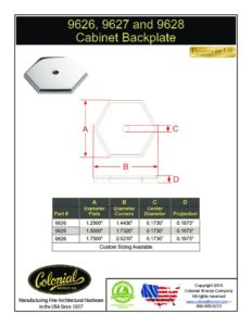 thumbnail of Colonial Bronze PROD 9626_9627_9628 Backplate Specifications