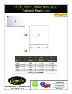 thumbnail of Colonial Bronze PROD 9950_9951_9952_9953 Backplate Specifications
