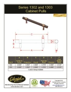 thumbnail of Colonial Bronze Prod 1302_1303 Pulls Specifications