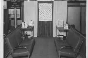 Colonial Bronze tradeshow booth in the 1940's